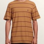 Volcom Randall Crew Short Sleeve Tee – Old Gold – XS