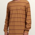 Volcom Randall Crew Long Sleeve Tee – Old Gold – S