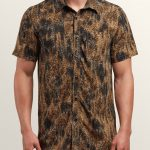 Volcom Klasey Short Sleeve Shirt – Sand Brown – XL