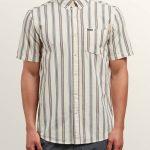 Volcom Mix Bag Short Sleeve Shirt – White Flash – XS