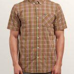 Volcom Melvin Short Sleeve Shirt – Beige – XXL