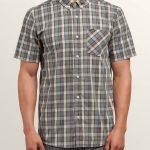 Volcom Melvin Short Sleeve Shirt – Cement Grey – XXL