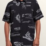 Volcom More Something Short Sleeve Shirt – Black – L