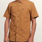 Volcom Frequency Dot Short Sleeve Shirt – Old Gold – XXL