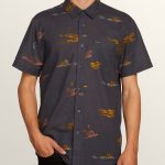 Volcom Sub Phase Short Sleeve Shirt – Asphalt Black – XXL