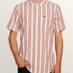 Volcom The Bold Stripe Short Sleeve Shirt – White Flash – XS
