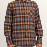 Volcom Caden Plaid Long Sleeve Flannel – Espresso – XL