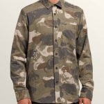Volcom Dragstone Long Sleeve Shirt – Camouflage – M
