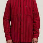 Volcom Shader Long Sleeve Shirt – Engine Red – S