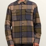 Volcom Randower Long Sleeve Flannel – Military – S