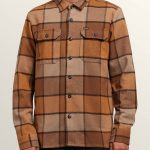 Volcom Randower Long Sleeve Flannel – Mud – XS
