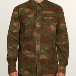 Volcom Huckster Long Sleeve Shirt – Army – XL