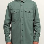 Volcom Huckster Long Sleeve Shirt – Pine – XL