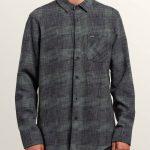 Volcom Buffalo Glitch Long Sleeve Shirt – Pine – XXL