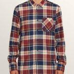 Volcom Caden Plaid Long Sleeve Flannel – Melindigo – S