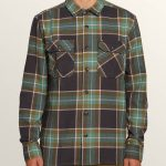 Volcom Randower Long Sleeve Flannel – Deep Sea – M