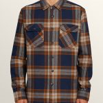 Volcom Randower Long Sleeve Flannel – Melindigo – XL