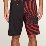 Volcom Lido Block Mod Boardshorts – Why Rock Red – 34