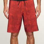 Volcom Deadly Stones Mod Boardshorts – Why Rock Red – 36