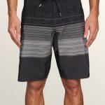 Volcom Lido Liney Mod Boardshorts – Black – 28