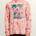 Volcom Tomb Long Sleeve Tee – Orange Glow – XXL