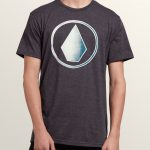 Volcom Removed Short Sleeve Tee – Heather Black – S
