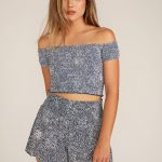 Volcom She's So Daisy Top – Vintage Navy – L