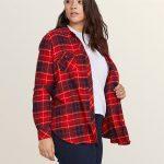 Volcom Getting Rad Plaid Long Sleeve Flannel – Rad Red – Rad Red – XL