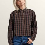 Volcom Dare 2 Bloom Long Sleeve Shirt – Dark Chocolate – S