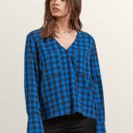 Volcom Check Out Time Top – True Blue – L
