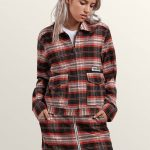 Volcom Frochickie Jacket – Black Plaid – XS
