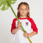 Volcom Little Girls Heart Lovin Raglan – Red – 3T