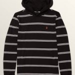 Volcom Big Boys Randall Long Sleeve Hoodie – Black – S