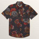 Volcom Big Boys Stoney Delusion Short Sleeve Shirt – Midnight Blue – L