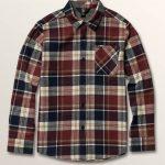Volcom Big Boys Caden Plaid Long Sleeve Flannel – Melindigo – XL