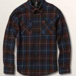 Volcom Big Boys Lumberg Long Sleeve Flannel – Melindigo – M