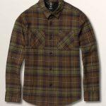 Volcom Big Boys Lumberg Long Sleeve Flannel – Vineyard Green – XL