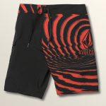 Volcom Big Boys Lido Block Mod Boardshorts – Why Rock Red – 30