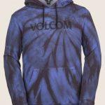 Volcom Jamies Fleece – Blue Tie-dye – XS