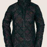 Volcom Skies Down Puff Jacket – Black Floral Print – XL