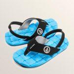 Volcom Little Boys Recliner Sandals – Marina Blue – 11