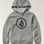 Volcom Little Boys Stone Pullover Hoodie – Storm – 4T